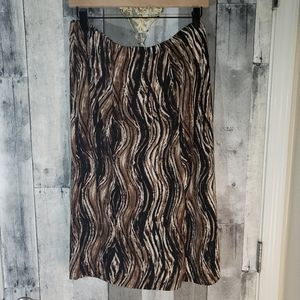 Easywear by Chico's brown maxi skirt 3 xl 16